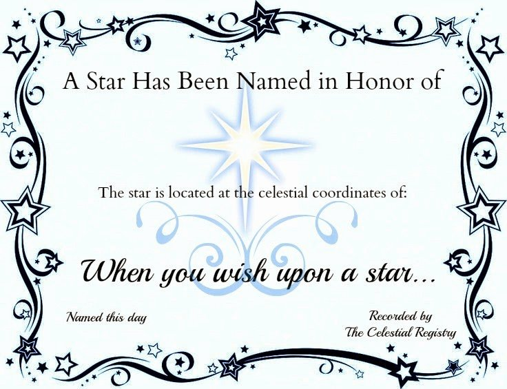 Name A Star Certificate Template Inspirational Crafty Confessions Name A Star Certificate Freebie
