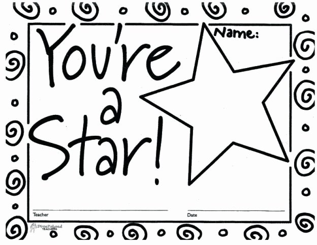 Name A Star Certificate Template Inspirational You Re A Star Certificate 1