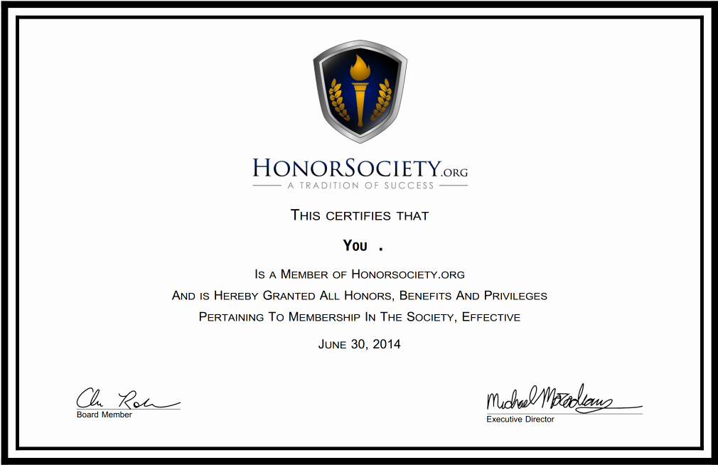 National Honor society Certificate Template Beautiful Certificate and Frames