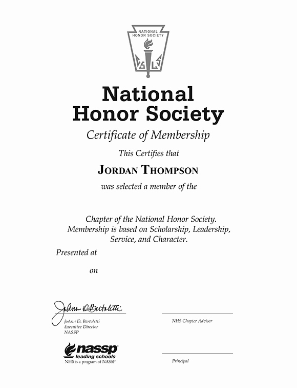 National Honor society Certificate Template Lovely National Honor society Tassel Edition Certificate Frame In