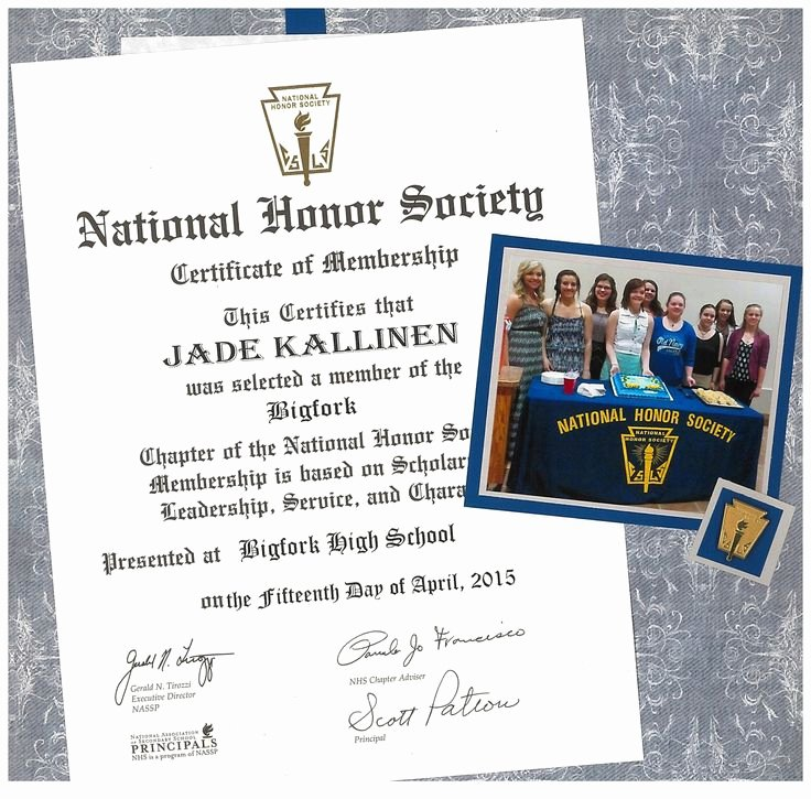 National Junior Honor society Certificate Template Fresh 25 Best Ideas About National Honor society On Pinterest