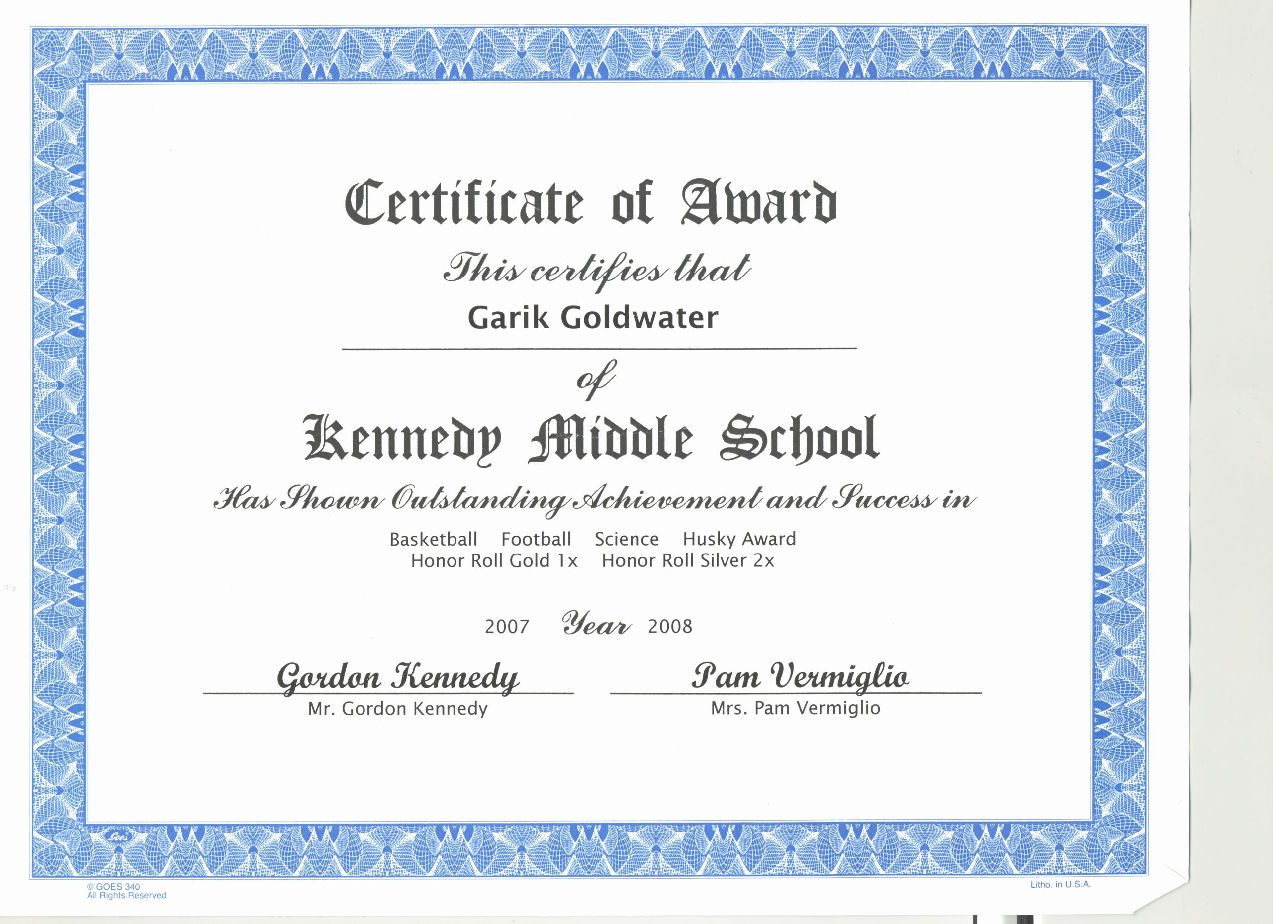 National Junior Honor society Certificate Template Inspirational Academics
