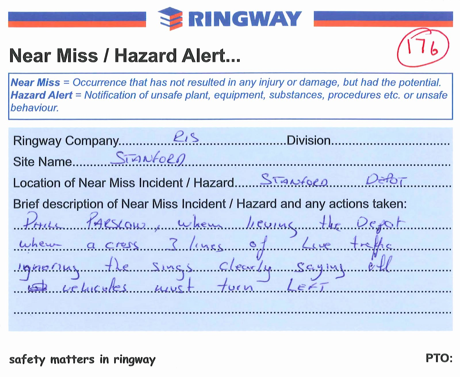 Near Miss Reporting Template Beautiful Ringway Update Reporting Of Near Misses