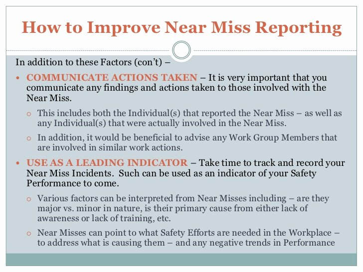 Near Miss Reporting Template New How to Increase Near Miss Reporting