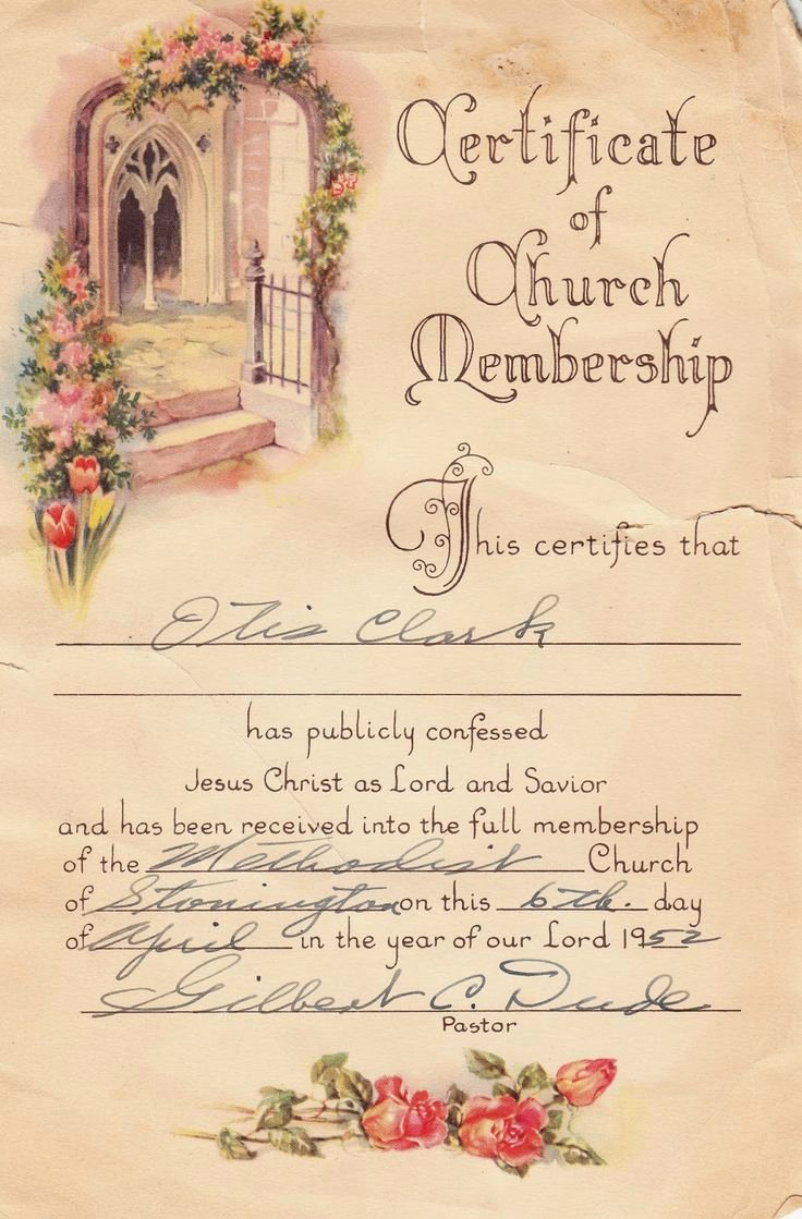 New Member Certificates Church Awesome 14 Best Free Membership Certificate Images On Pinterest