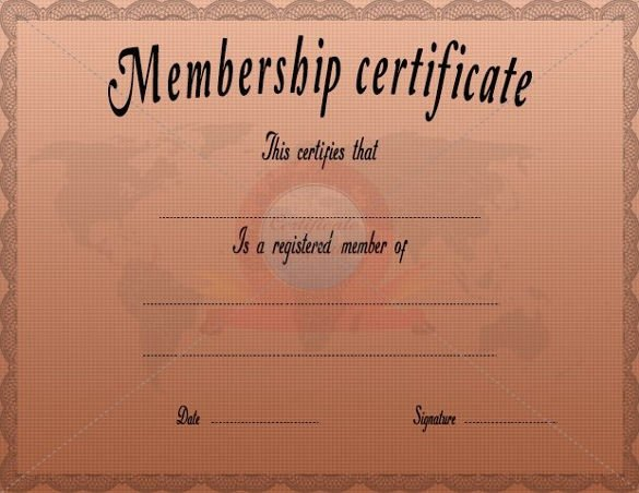 New Member Certificates Church Elegant 29 Of Membership Certificate Template