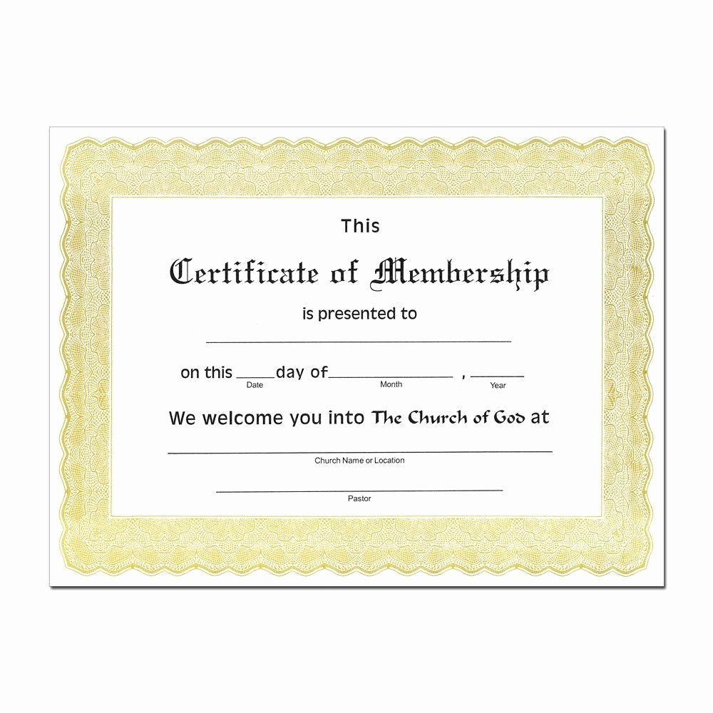 New Member Certificates Church Fresh Church Membership Certificate