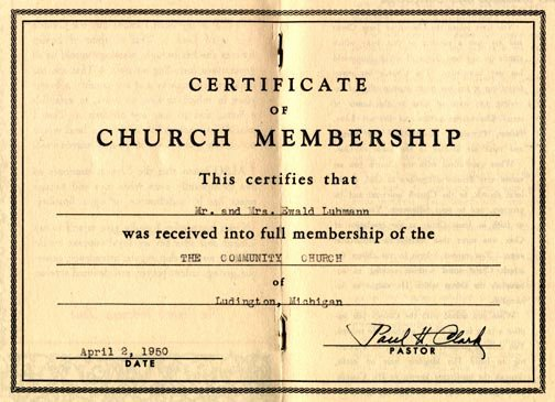 New Member Certificates Church Fresh Considerations What's Your Impression Of Church Membership
