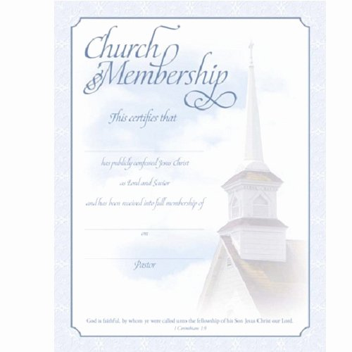 New Member Certificates Church Inspirational Church Certificates Supplies Baptism and Wedding