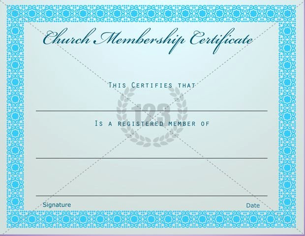 New Member Certificates Church Luxury Prestigious Church Membership Certificate Template Free