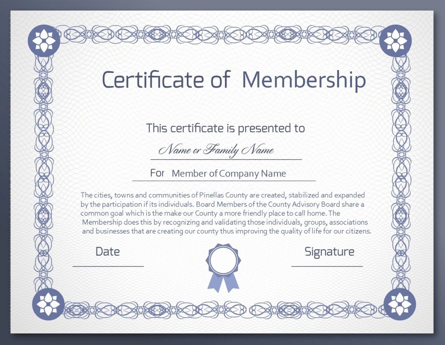New Member Certificates Church New Design A Membership Certificate