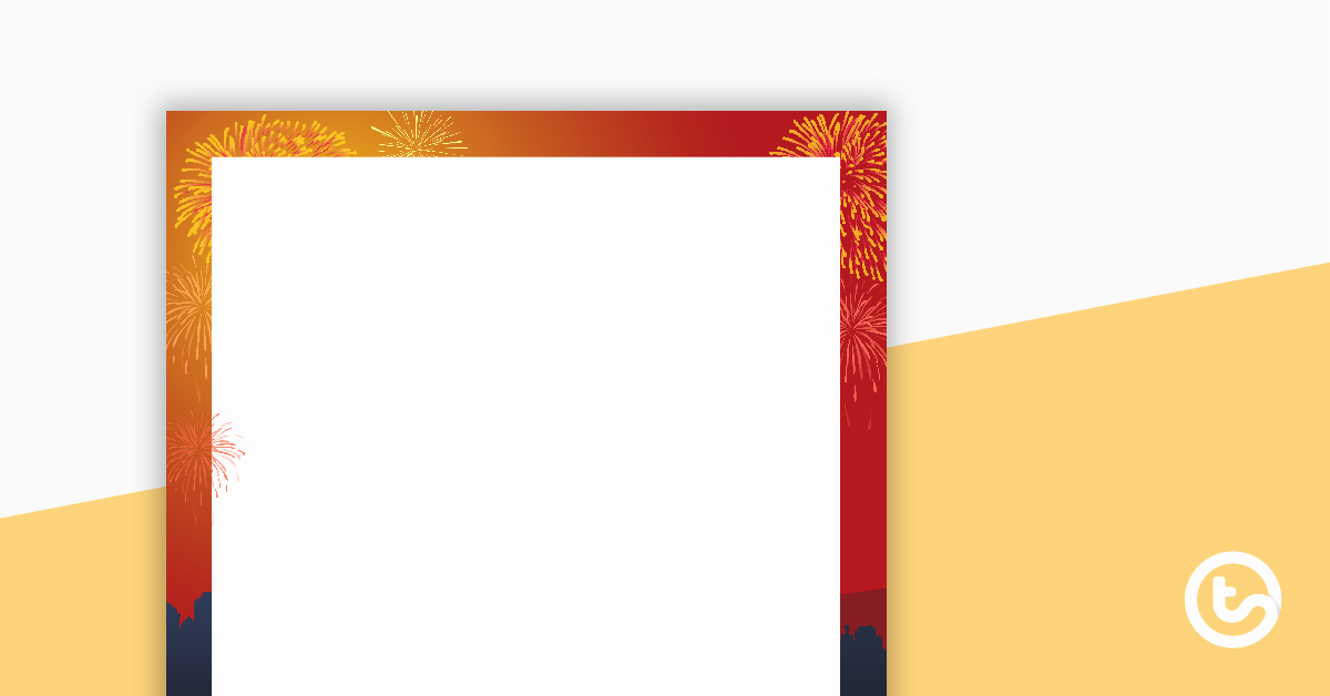 New Years Page Border Lovely Lunar New Year Page Border Teaching Resource