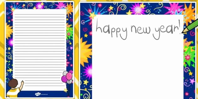 New Years Page Border Lovely New Year Decorative Page Border New Year