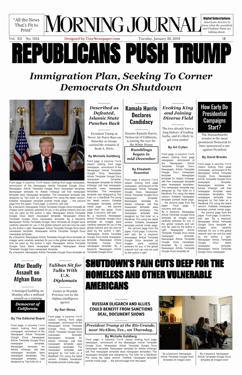New York Times Newspaper Template Google Docs Best Of New York Times Front Page Template