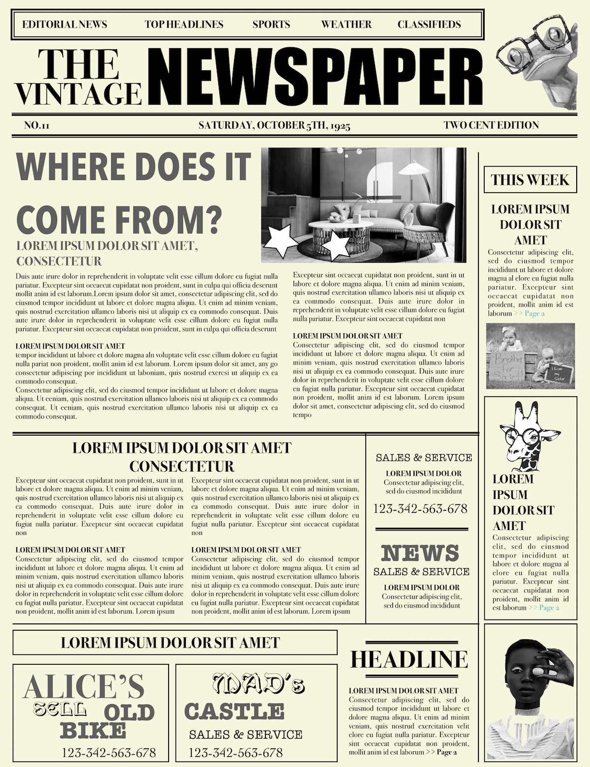 New York Times Newspaper Template Google Docs Inspirational Newspaper Layout Newspaper format Newspaper Generator Free