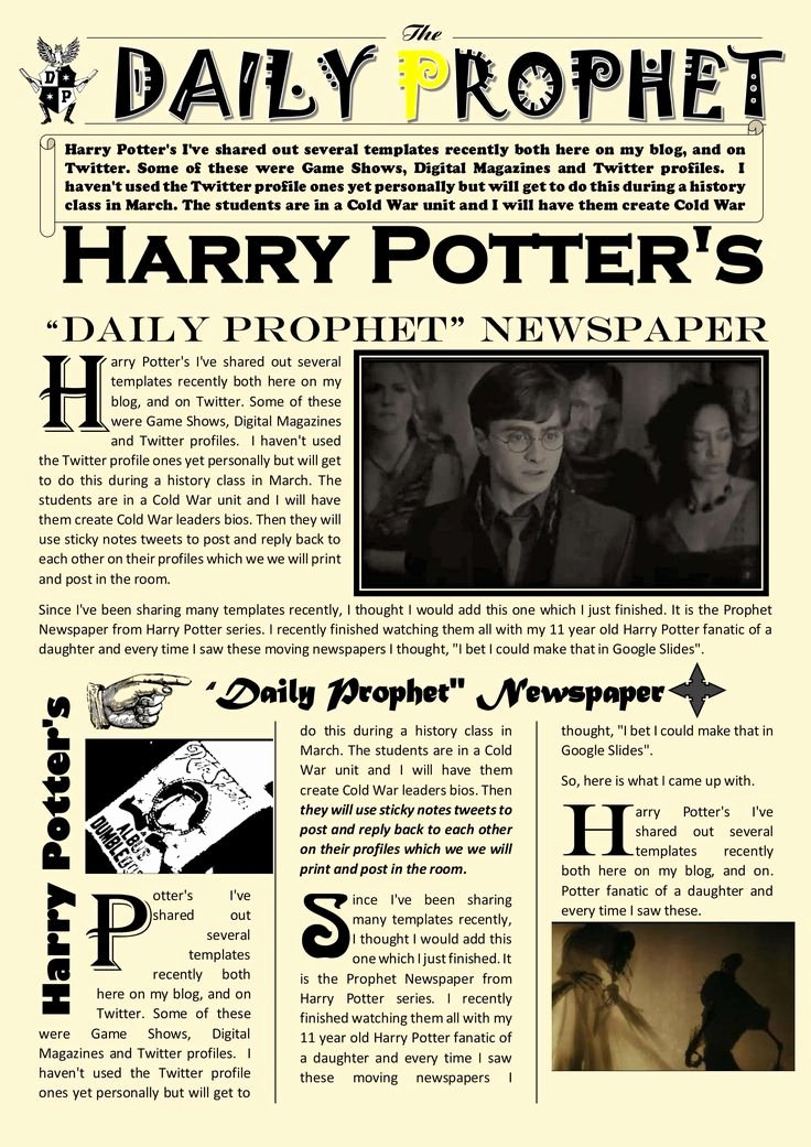 New York Times Newspaper Template Google Docs Lovely Newspaper Article Template Google Docs Harry Potter Daily