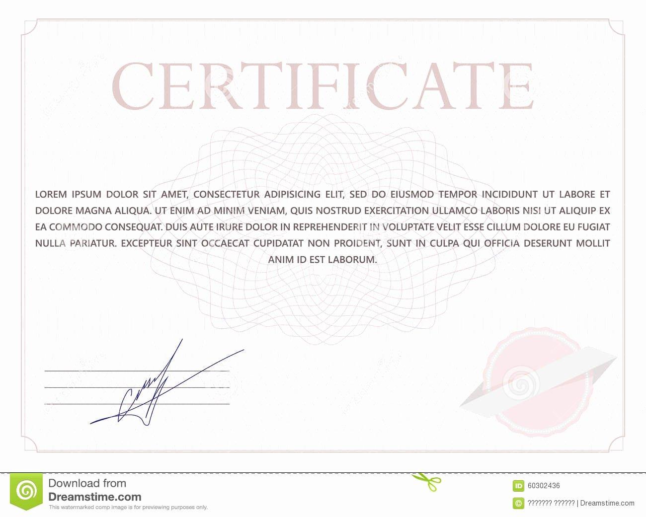 Nhs Classic Certificate Template Elegant Classic Certificate Stock Vector Image