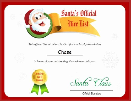 Nice List Certificate Free Printable Awesome 32 Best Images About Printable Santa Letters On Pinterest