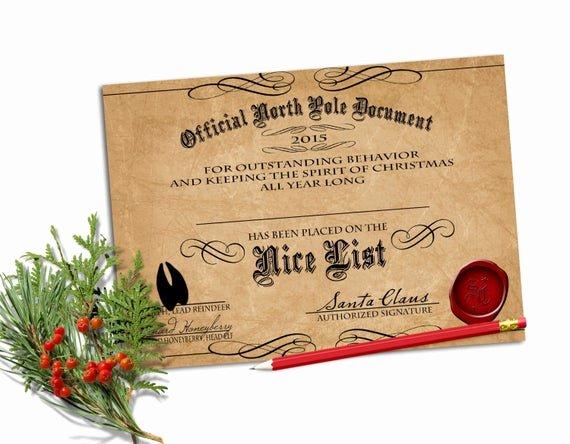 Nice List Certificate Free Printable Fresh Editable Nice List Certificate Printable by Confettiprintsshop