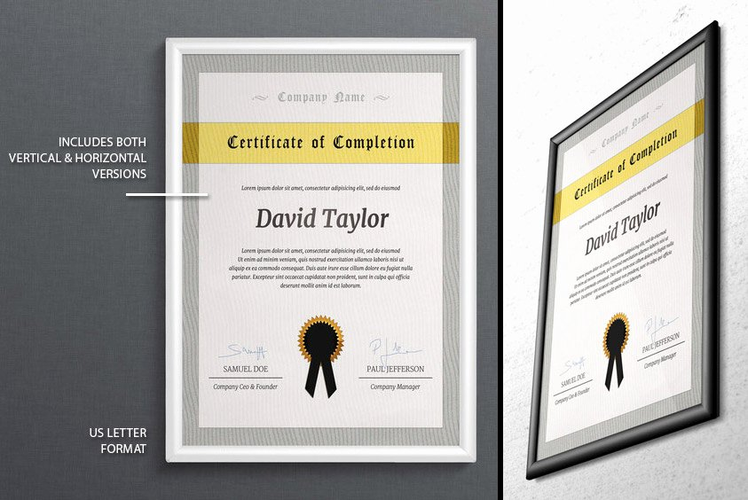 Njhs Certificate Of Membership Template Elegant Psd Certificate Of Pletion Template Graphic Cloud