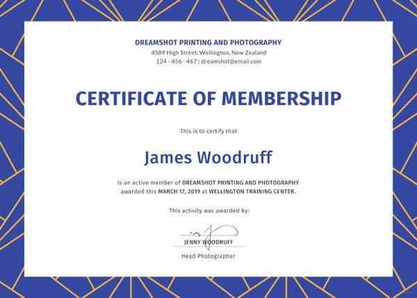 Njhs Certificate Of Membership Template New 23 Membership Certificate Templates Word Psd In
