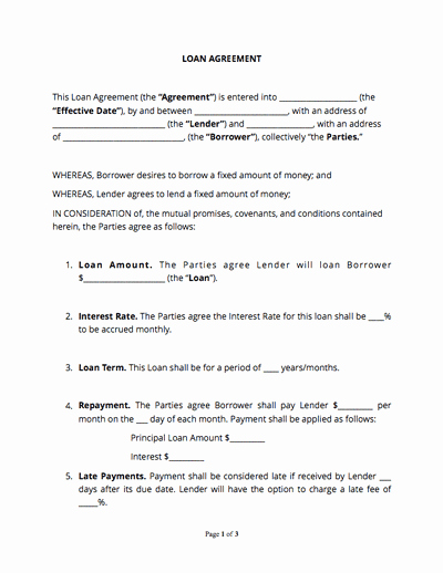 No Compete Contract Template Inspirational Loan Agreement Template Free Sample Docsketch