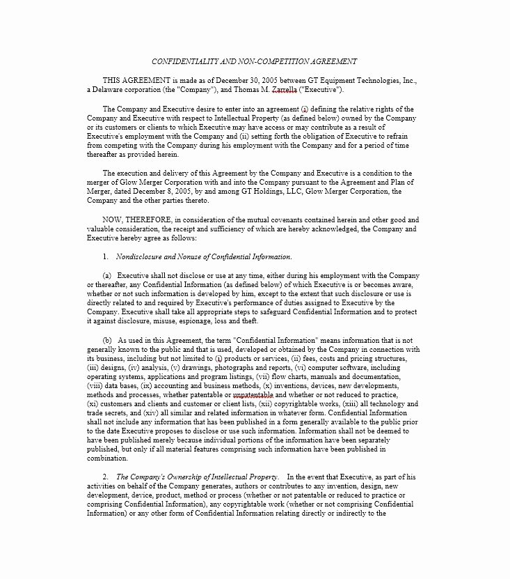 No Compete Contract Template Luxury 39 Ready to Use Non Pete Agreement Templates Template Lab
