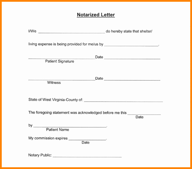 Notarized Letter Template Word Unique 7 Notary Statement Sample