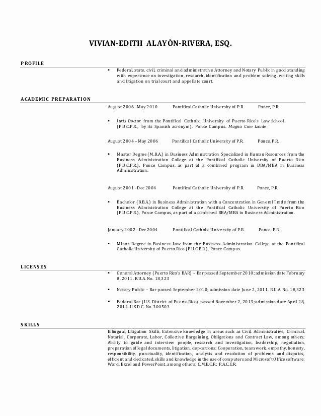 Notary Public Resume Sample Elegant Vivian Alayon S Resume English