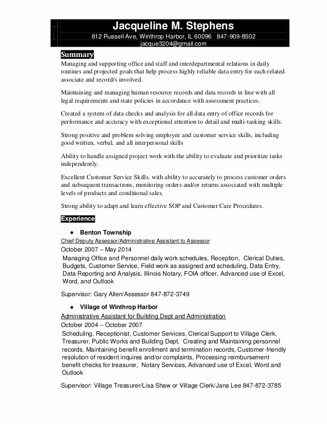 Notary Public Resume Sample Luxury Jacqueline Stephens Resume