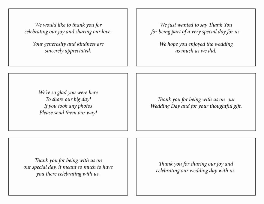 Note Card Template Google Docs New Wedding Thank You Wording Google Search