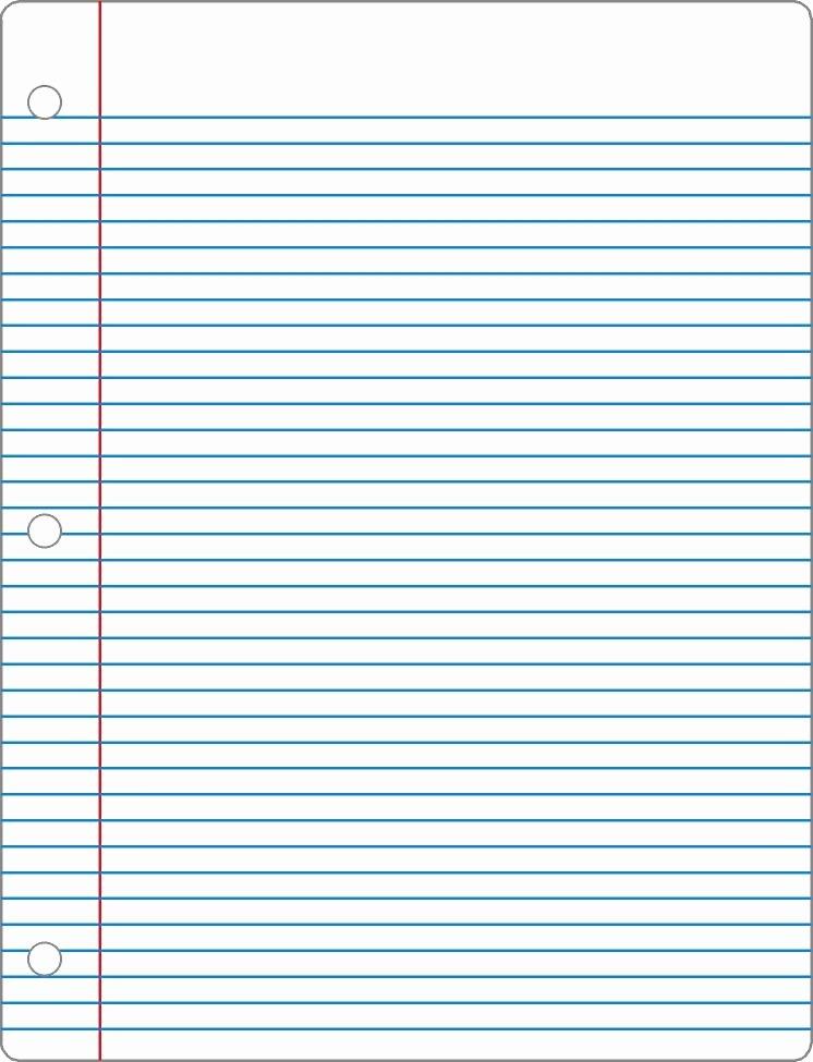Notebook Paper Pdf Fresh Notebook Paper Template