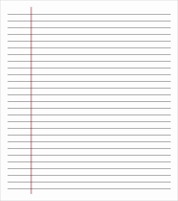 Notebook Paper Pdf Lovely Notebook Paper Template