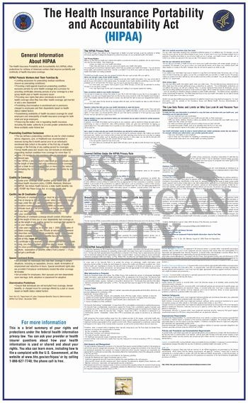 Notice Of Privacy Practices In Spanish Best Of Hipaa Poster First American Safety