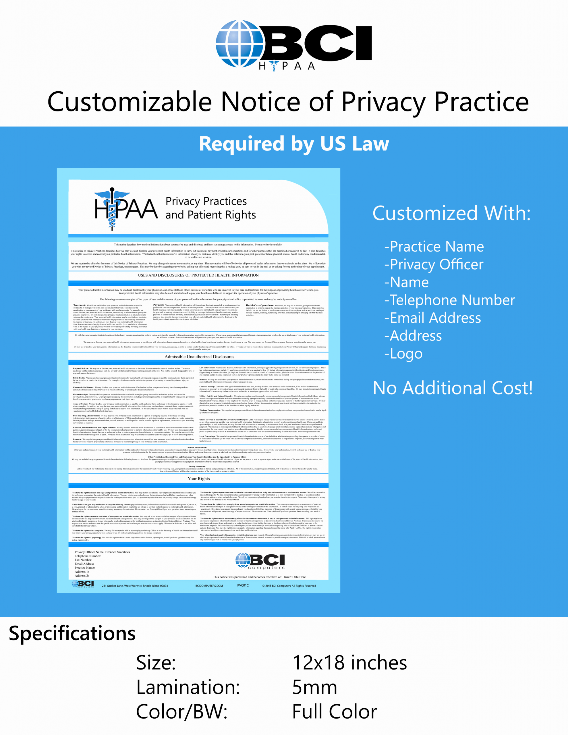 Notice Of Privacy Practices In Spanish Inspirational Hipaa Poster Spanish Customizable Español Aviso De