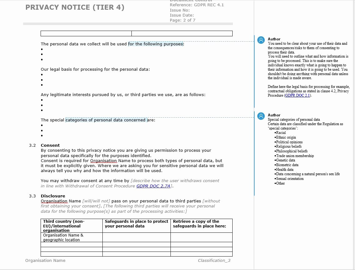 Notice Of Privacy Practices Template 2018 Fresh How to Write A Gdpr Privacy Notice with Template Example