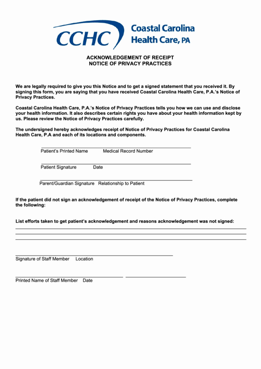Notice Of Privacy Practices Template 2018 Lovely top 9 Notice Privacy Practices form Templates Free to