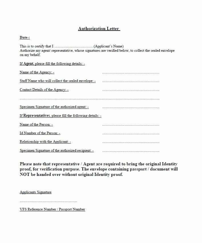 Notice Of Representation Letter Beautiful 46 Authorization Letter Samples & Templates Template Lab