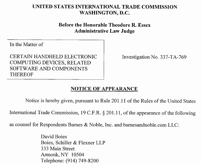 Notice Of Representation Letter Best Of Foss Patents November 2011