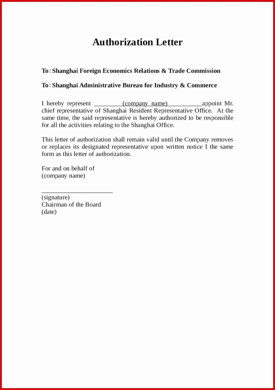 Notice Of Representation Letter Elegant 9 Letter Of Authorization to Represent Examples Pdf