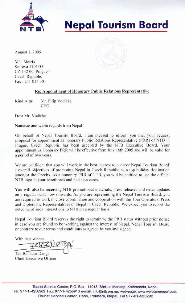 Notice Of Representation Letter Luxury How to Make Prc Authorization Letter