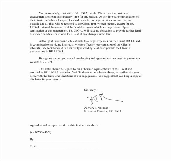 Notice Of Representation Letter New Sample Termination Letters 8 Client Termination Letters