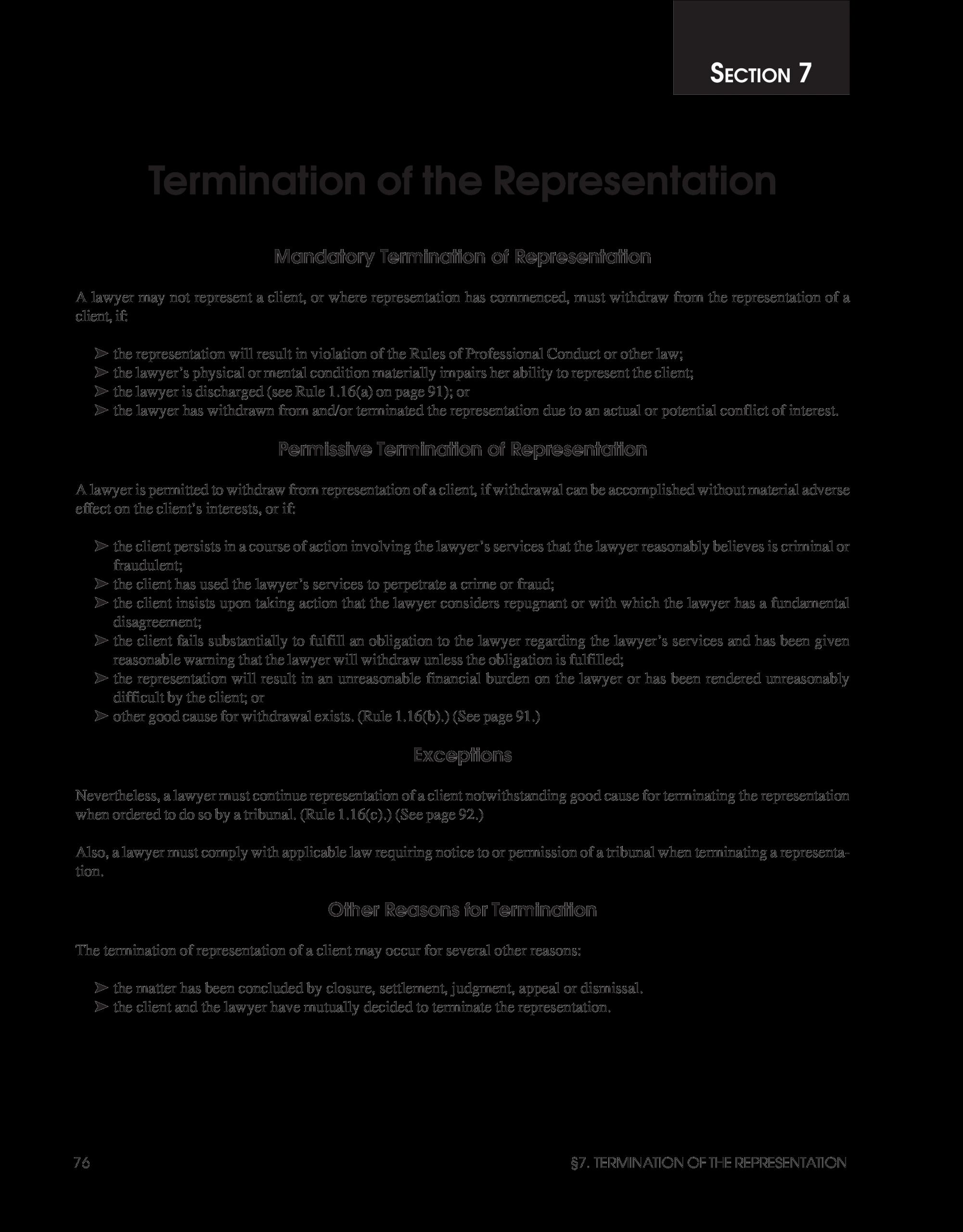 Notice Of Representation Letter Unique Termination Service Letter to Client