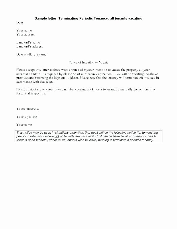 Notice to Move Out Letter Best Of Sample Vacate Letter to Tenant – Gulflifa