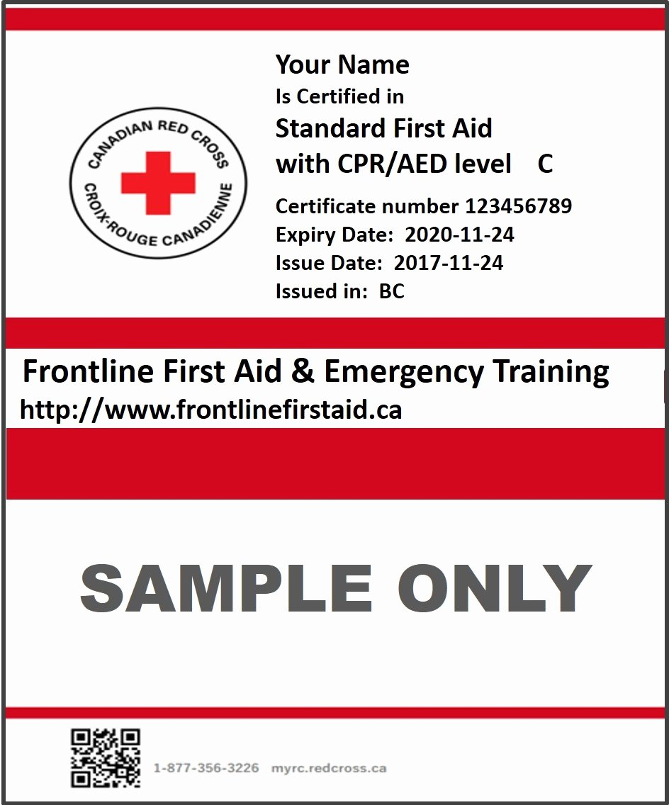 Nsc Cpr Course Certificate Template Lovely Lost My Cpr Certification Card Red Cross