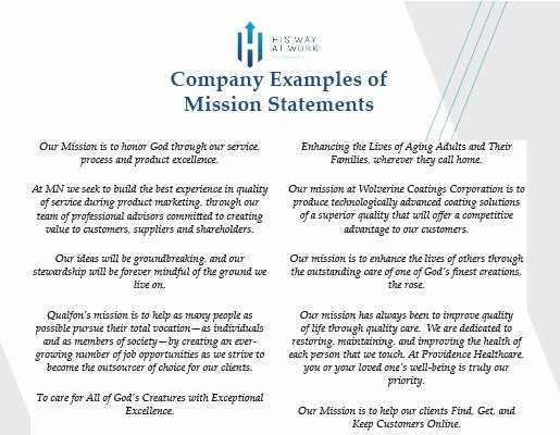 Nursing Mission Statement Example Elegant Samples Archives His Way at Work