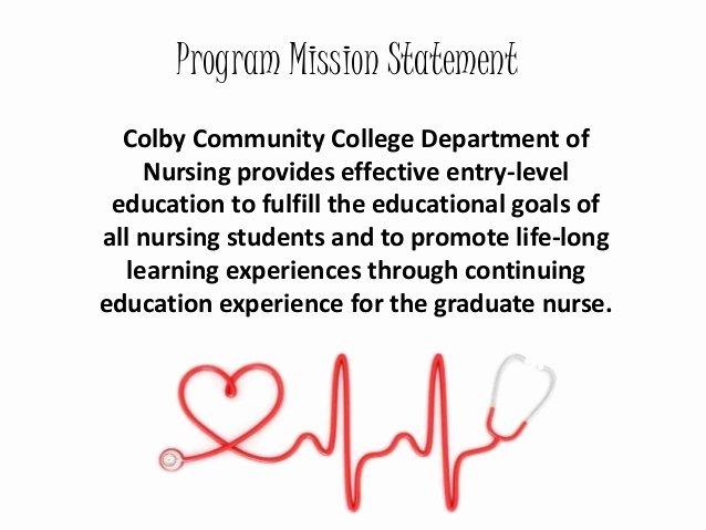 Nursing Mission Statement Example New Nursing