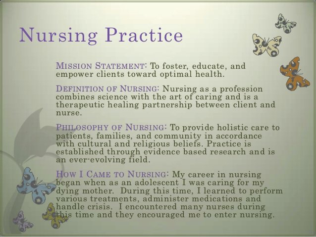 Nursing Mission Statement Examples Fresh Professional Portfolio