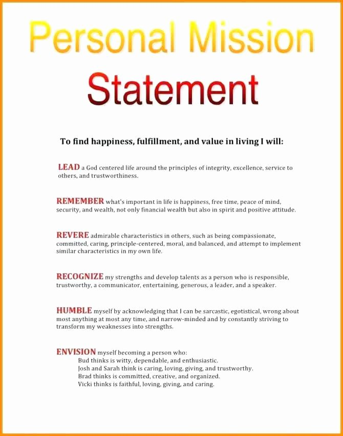 Nursing Mission Statement Examples Luxury 15 Personal Leadership Statement Examples