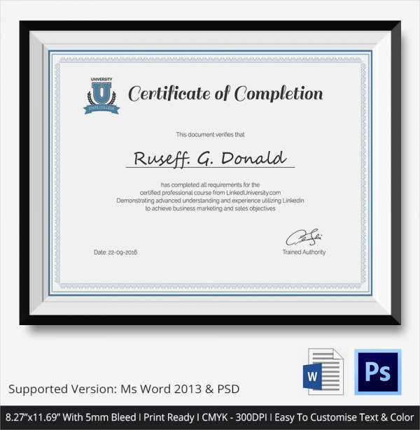 Nwcg Training Certificate Template Awesome 36 Sample Certificate Of Pletion Templates In